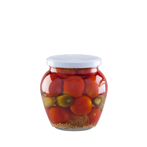 Cherry tomatoes and gherkins